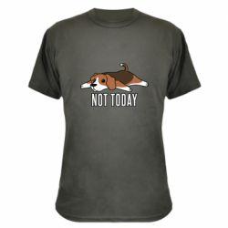 Камуфляжная футболка Dog not today