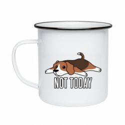 Кружка эмалированная Dog not today