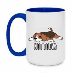 Кружка двухцветная 420ml Dog not today