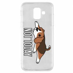 Чехол для Samsung A6 2018 Dog not today