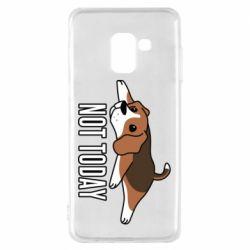 Чехол для Samsung A8 2018 Dog not today