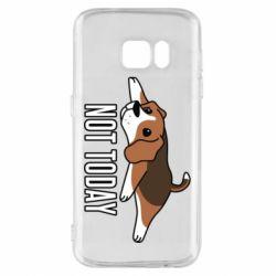 Чехол для Samsung S7 Dog not today