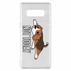 Чехол для Samsung Note 8 Dog not today