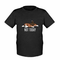 Детская футболка Dog not today