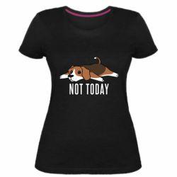 Женская стрейчевая футболка Dog not today