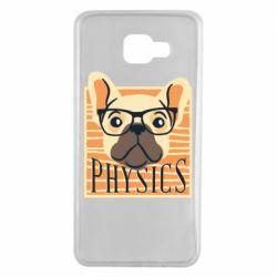 Чехол для Samsung A7 2016 Dog Physicist