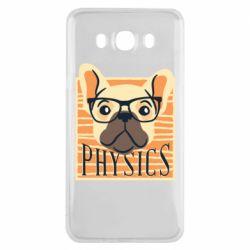 Чехол для Samsung J7 2016 Dog Physicist