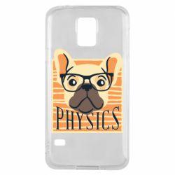 Чехол для Samsung S5 Dog Physicist