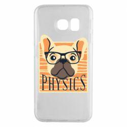 Чехол для Samsung S6 EDGE Dog Physicist