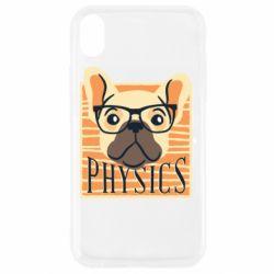 Чехол для iPhone XR Dog Physicist