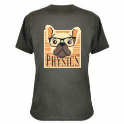 Камуфляжная футболка Dog Physicist