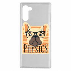 Чехол для Samsung Note 10 Dog Physicist