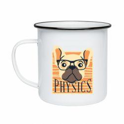 Кружка эмалированная Dog Physicist