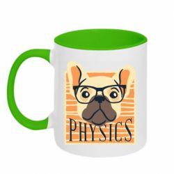 Кружка двухцветная 320ml Dog Physicist