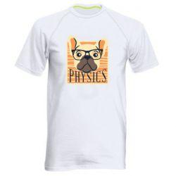 Мужская спортивная футболка Dog Physicist
