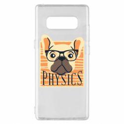 Чехол для Samsung Note 8 Dog Physicist