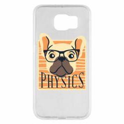 Чехол для Samsung S6 Dog Physicist
