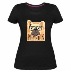 Женская стрейчевая футболка Dog Physicist