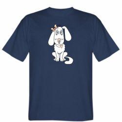 Мужская футболка Dog with a bow