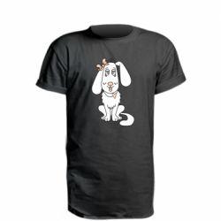 Удлиненная футболка Dog with a bow