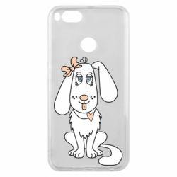 Чехол для Xiaomi Mi A1 Dog with a bow