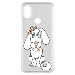 Чехол для Xiaomi Mi A2 Dog with a bow