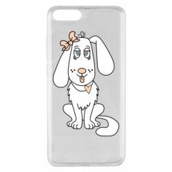 Чехол для Xiaomi Mi Note 3 Dog with a bow