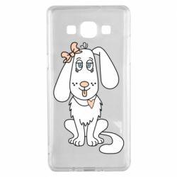 Чехол для Samsung A5 2015 Dog with a bow