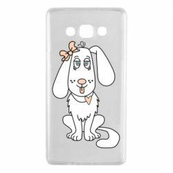 Чехол для Samsung A7 2015 Dog with a bow
