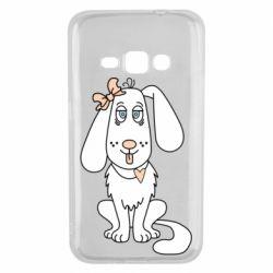 Чехол для Samsung J1 2016 Dog with a bow