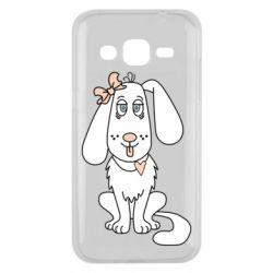 Чехол для Samsung J2 2015 Dog with a bow