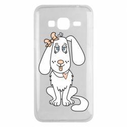 Чехол для Samsung J3 2016 Dog with a bow