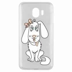 Чехол для Samsung J4 Dog with a bow
