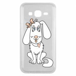 Чехол для Samsung J5 2015 Dog with a bow