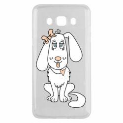 Чехол для Samsung J5 2016 Dog with a bow
