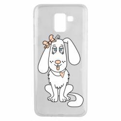 Чехол для Samsung J6 Dog with a bow