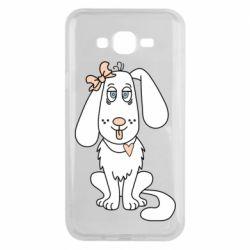 Чехол для Samsung J7 2015 Dog with a bow
