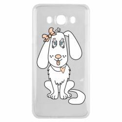 Чехол для Samsung J7 2016 Dog with a bow