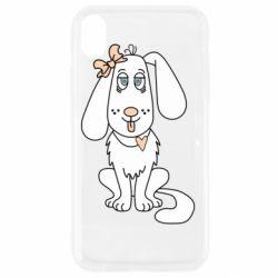 Чехол для iPhone XR Dog with a bow