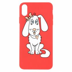 Чехол для iPhone Xs Max Dog with a bow