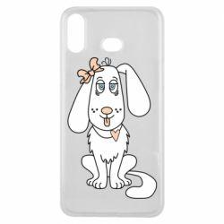 Чехол для Samsung A6s Dog with a bow