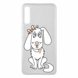 Чехол для Samsung A7 2018 Dog with a bow