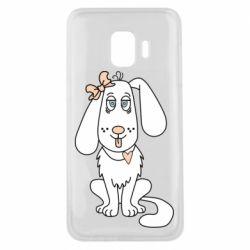 Чехол для Samsung J2 Core Dog with a bow