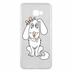Чехол для Samsung J4 Plus 2018 Dog with a bow