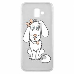 Чехол для Samsung J6 Plus 2018 Dog with a bow