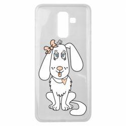 Чехол для Samsung J8 2018 Dog with a bow