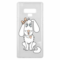 Чехол для Samsung Note 9 Dog with a bow