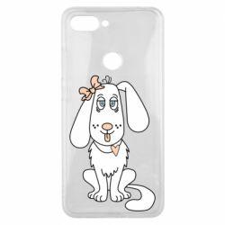 Чехол для Xiaomi Mi8 Lite Dog with a bow
