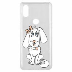 Чехол для Xiaomi Mi Mix 3 Dog with a bow