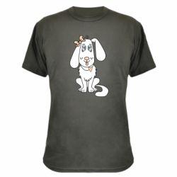 Камуфляжная футболка Dog with a bow